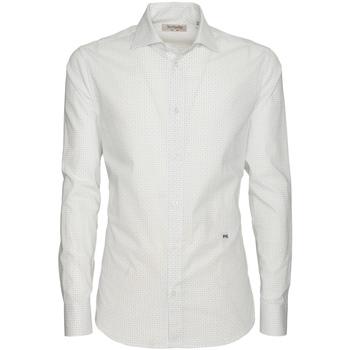 textil Hombre Camisas manga larga NeroGiardini P873051U Blanco