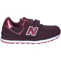 Zapatos Niños Zapatillas bajas New Balance NBKV574F2Y Rojo