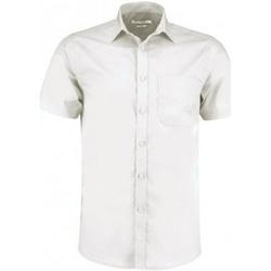 textil Hombre Camisas manga corta Kustom Kit KK141 Blanco