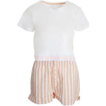 textil Mujer Pijama Brave Soul  Blanco/Rosa