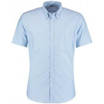 textil Hombre Camisas manga corta Kustom Kit KK183 Azul claro