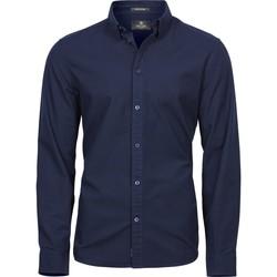 textil Hombre Camisas manga larga Tee Jays TJ4010 Marino