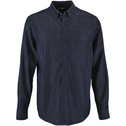textil Hombre Camisas manga larga Sols 2100 Vaquero