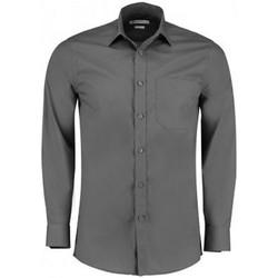 textil Hombre Camisas manga larga Kustom Kit K142 Grafito
