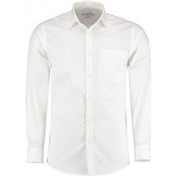 textil Hombre Camisas manga larga Kustom Kit K142 Blanco