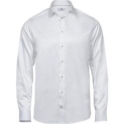 textil Hombre Camisas manga larga Tee Jays T4020 Blanco