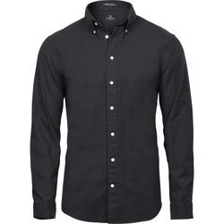 textil Hombre Camisas manga larga Tee Jays TJ4000 Negro
