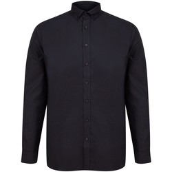 textil Hombre Camisas manga larga Henbury H512C Negro