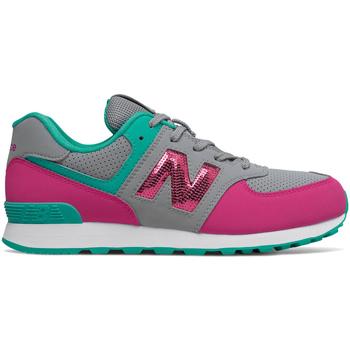 Zapatos Niña Zapatillas bajas New Balance NBGC574KWT Gris