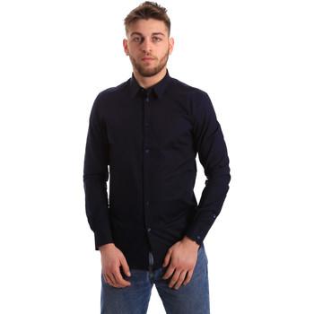 textil Hombre Camisas manga larga Gaudi 821BU45014 Azul