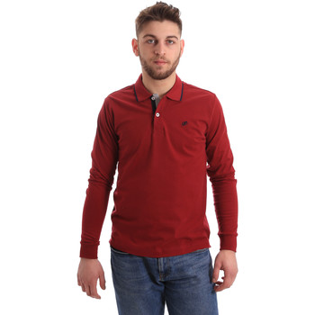 textil Hombre Polos manga larga Key Up 2RG71 0001 Rojo