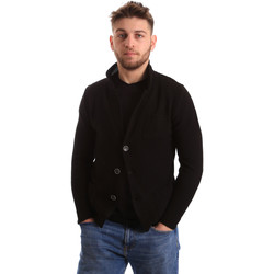 textil Hombre Chaquetas de punto Bradano 165 Negro