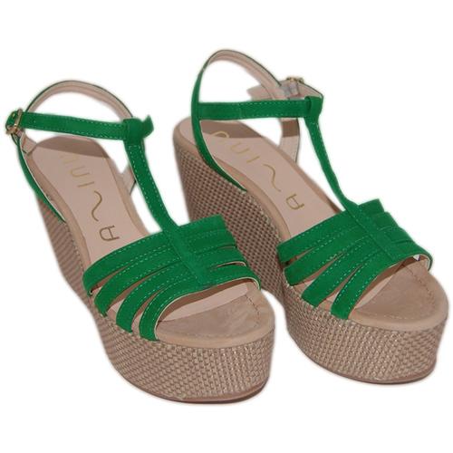 Zapatos Mujer Sandalias Unisa Sandálias Lusono Green verde