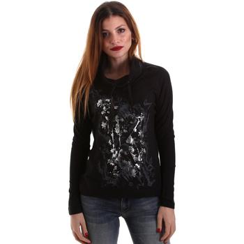 textil Mujer Camisetas manga larga Key Up 5VG84 0001 Negro