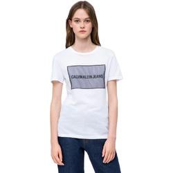 textil Mujer Camisetas manga corta Calvin Klein Jeans J20J208606 Blanco