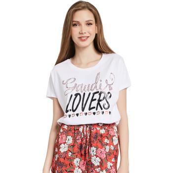 textil Mujer Camisetas manga corta Gaudi 011BD64008 Blanco
