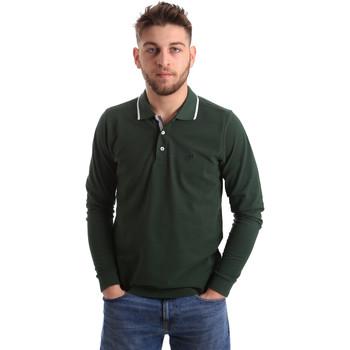 textil Hombre Polos manga larga Key Up 2L711 0001 Verde