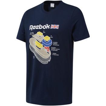 textil Hombre Camisetas manga corta Reebok Sport DT9445 Azul