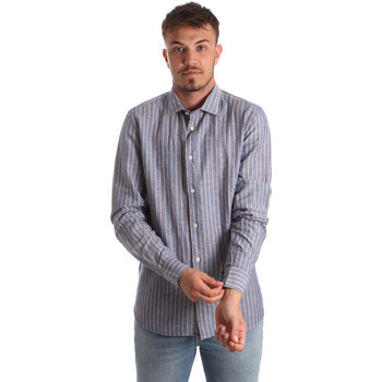 textil Hombre Camisas manga larga Antony Morato MMSL00520 FA420069 Azul