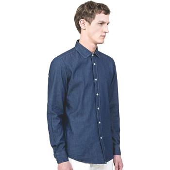 textil Hombre Camisas manga larga Antony Morato MMSL00520 FA440019 Azul