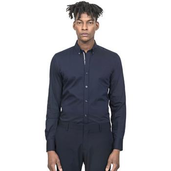 textil Hombre Camisas manga larga Antony Morato MMSL00523 FA450001 Azul