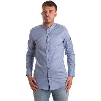 textil Hombre Camisas manga larga Antony Morato MMSL00526 FA430086 Azul