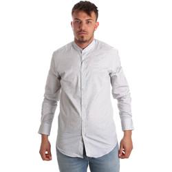 textil Hombre Camisas manga larga Antony Morato MMSL00526 FA440024 Blanco