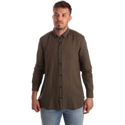 textil Hombre Camisas manga larga Antony Morato MMSL00530 FA400051 Marrón