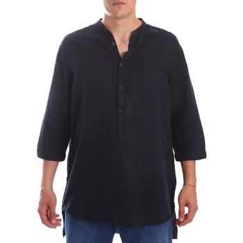 textil Hombre Camisas manga larga Antony Morato MMSL00531 FA400051 Azul