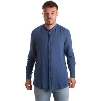 textil Hombre Camisas manga larga Antony Morato MMSL00547 FA400051 Azul
