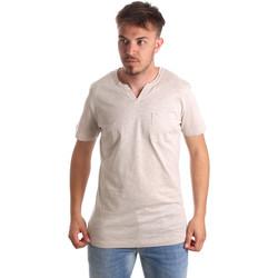 textil Hombre Camisetas manga corta Antony Morato MMKS01487 FA100139 Beige