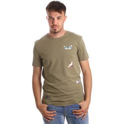 textil Hombre Camisetas manga corta Antony Morato MMKS01515 FA100144 Verde