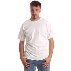 textil Hombre Camisetas manga corta Antony Morato MMKS01564 FA100189 Blanco