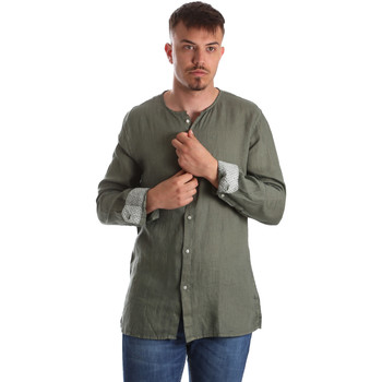 textil Hombre Camisas manga larga Gaudi 911BU45002 Verde