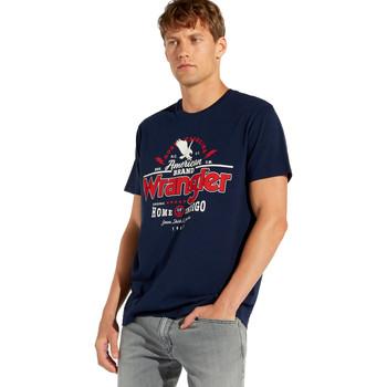 textil Hombre Camisetas manga corta Wrangler W7C08F Azul
