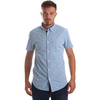textil Hombre Camisas manga corta Wrangler W59446 Azul