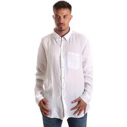 textil Hombre Camisas manga larga Navigare NV92067 BD Blanco