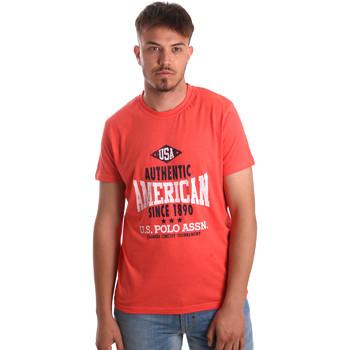 textil Hombre Camisetas manga corta U.S Polo Assn. 52231 51331 Naranja