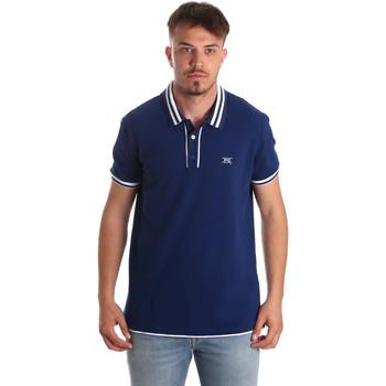 textil Hombre Polos manga corta NeroGiardini P972210U Azul