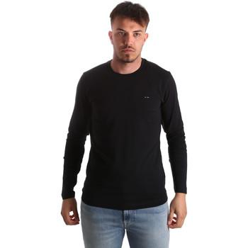 textil Hombre Camisetas manga larga Key Up 2E96B 0001 Negro