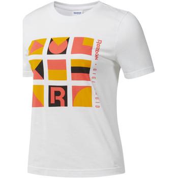 textil Mujer Camisetas manga corta Reebok Sport DY9368 Blanco