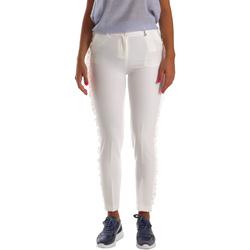 textil Mujer Pantalones chinos Fracomina FR19SP666 Blanco