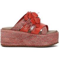 Zapatos Mujer Zuecos (Mules) Café Noir HG133 Rojo