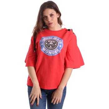 textil Mujer Camisetas manga corta Gaudi 911BD64037 Rojo