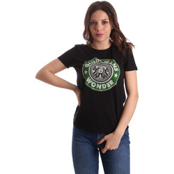 textil Mujer Camisetas manga corta Gaudi 911BD64038 Negro