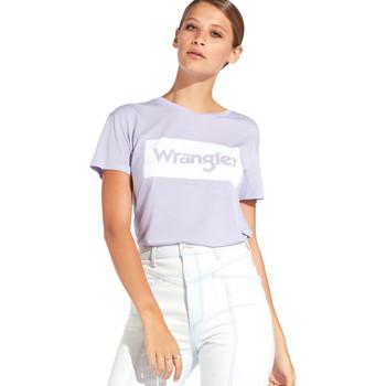 textil Mujer Camisetas manga corta Wrangler W7016D Violeta