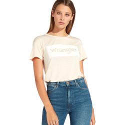 textil Mujer Camisetas manga corta Wrangler W7016D Naranja