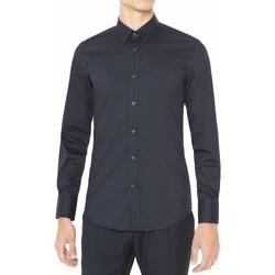 textil Hombre Camisas manga larga Antony Morato MMSL00375 FA450001 Azul
