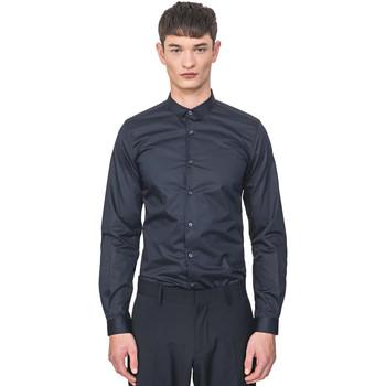 textil Hombre Camisas manga larga Antony Morato MMSL00596 FA400072 Azul