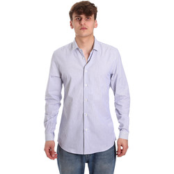 textil Hombre Camisas manga larga Antony Morato MMSL00596 FA420090 Blanco